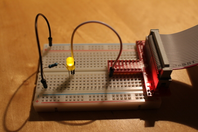 LED on extension board