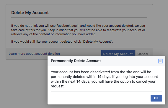 Quitting Facebook. For real.
